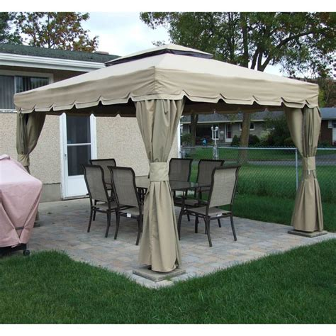 10x12 Gazebo by Rona Sojag 10x12 Montego Bay Replacement Canopy And