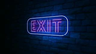 animation of a sign with the word light in neon light at