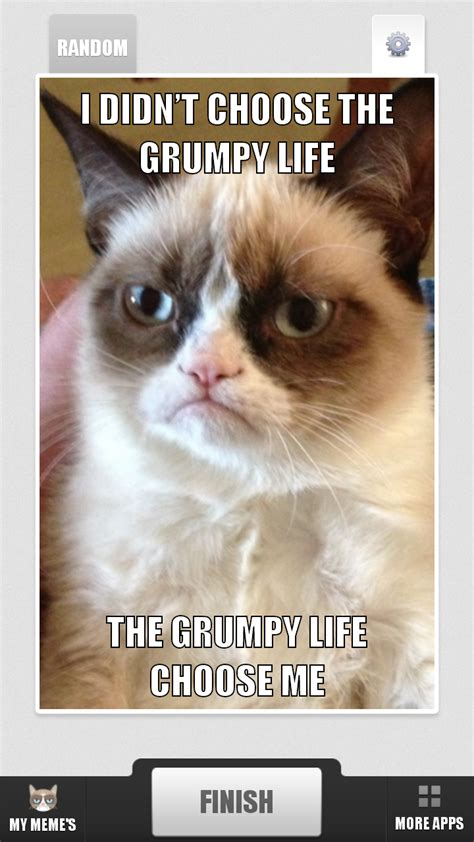Grump Cat Meme Generator - amazon com grumpy cat meme generator appstore for android