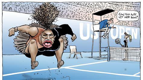 australian cartoonist mark knights twitter account disappears  serena williams racism