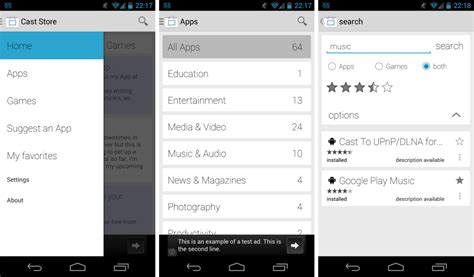 cast extension android cast trouver facilement les apps compatibles