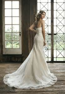 strapless a line wedding dresses strapless lace wedding dress with a line silhouette sang maestro