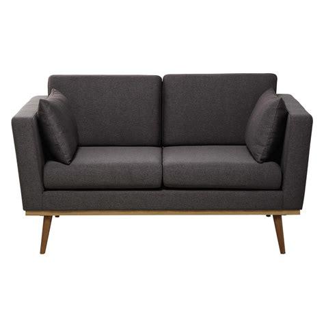 canapé 2 places en tissu canapé 2 places en tissu gris timeo maisons du monde