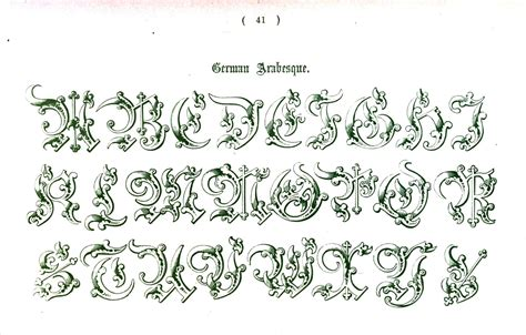 typography alphabet ornamental renaissance medieval 27 types of ty 183 pog 183 ra 183 phy