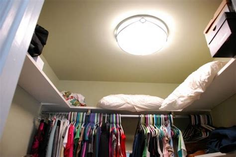 closet light fixture with outlet ideas advices for