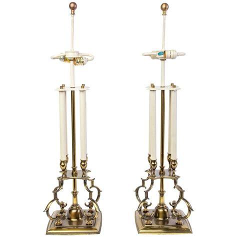stiffel brass candlestick l pair of mid century modernist stiffel brass candlestick
