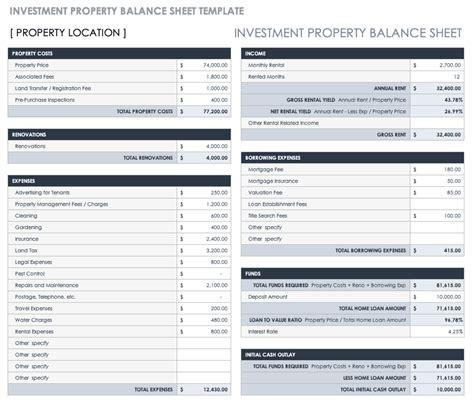 balance sheet templates smartsheet