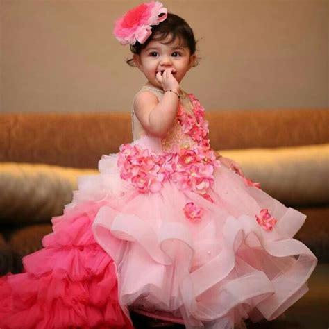 beautiful full long dress   cutest baby girl