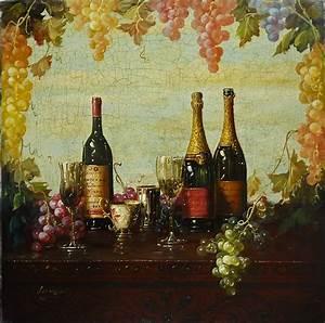 ArtFinders / LuxeArt: Luzanquis' Wine Paintings