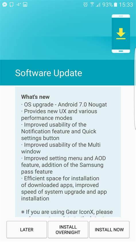 android nougat on samsung galaxy s7 a big step in the
