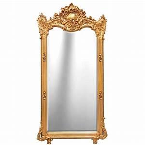 Grand Miroir Rectangulaire : grand miroir rectangulaire baroque dor ~ Preciouscoupons.com Idées de Décoration