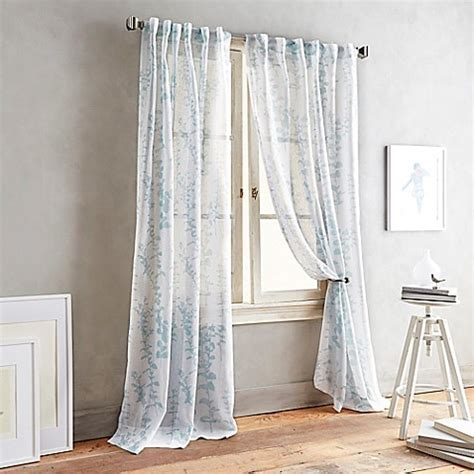 DKNY Front Row Back Tab Sheer Window Curtain Panel   Bed