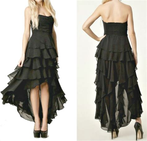 black chiffon sleeveless chiffon tiered party dress dress