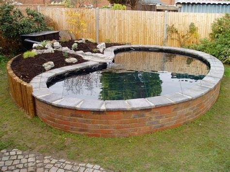 above ground koi ponds hide above ground pond stone koi fish stock tank pinterest