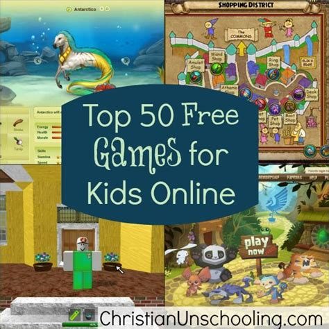 Top 50 Free Games For Kids Online (christian Unschooling)  Ideas  Pinterest  Online Games For
