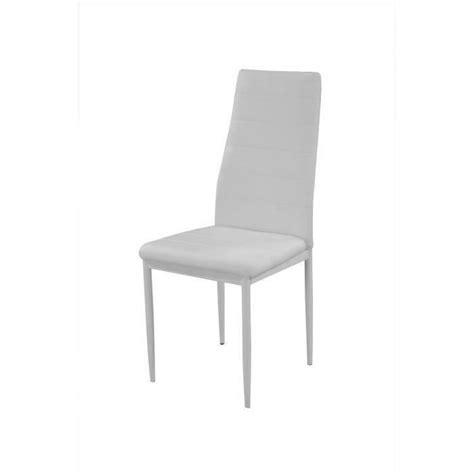 lot de 4 chaises blanches vogue lot de 4 chaises de salle à manger blanches achat