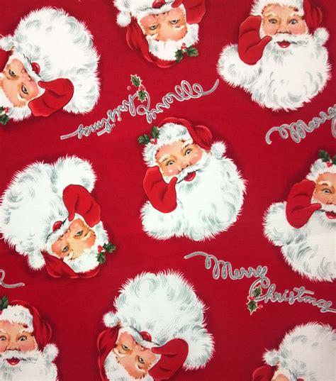 holiday inspirations fabric merry christmas santa  joanncom