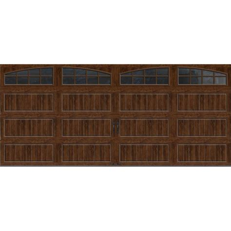 16 x 9 insulated garage door clopay gallery collection 16 ft x 7 ft 18 4 r value