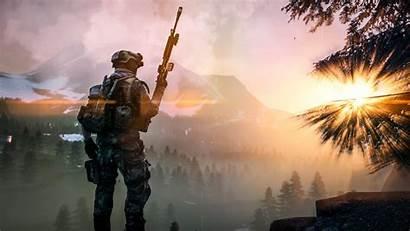Tactical Battlefield Sci Fi Military Soldier Landscape
