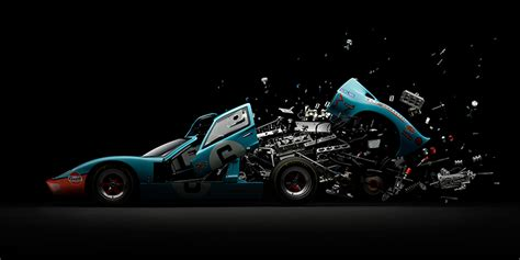 fabian oefner explodes iconic sports cars using thousands of