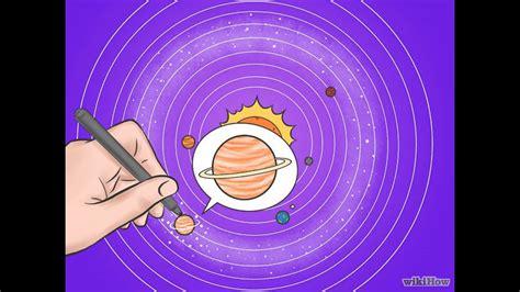 como dibujar el sistema solar youtube