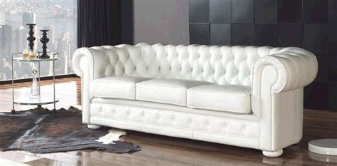 canap 233 chesterfield blanc pas cher univers canap 233