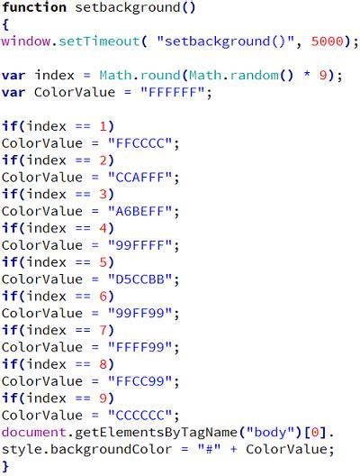random color javascript random color dengan javascript