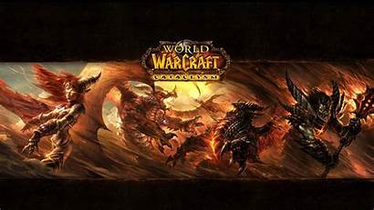 Warcraft Cataclysm Monsters Fire 1080p Background
