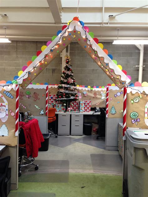 gingerbread cubical decorating 1st place gingerbread cubicle and