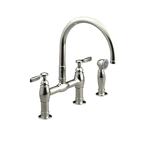 kitchen faucet with spray grohe bridgeford 12 in 2 handle high arc side sprayer