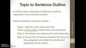 Classification Topic To Sentence Outline