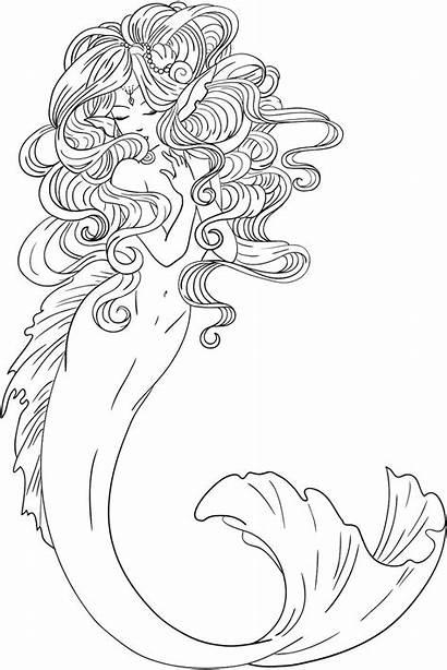 Dibujos Colorear Sirenas Imprimir Pintar