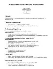 resume exles administrative assistant objective summary abilities exles for resume resume skills and ability template of resume qualifications resume