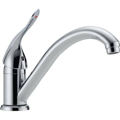 delta chrome kitchen faucets delta single handle standard kitchen faucet in