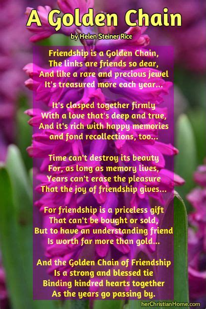 Poems About Friendship by Helen Steiner Rice