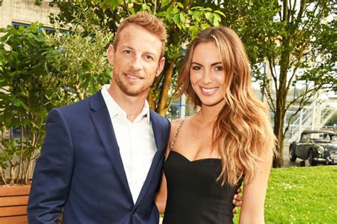jenson button  model brittny ward   expecting