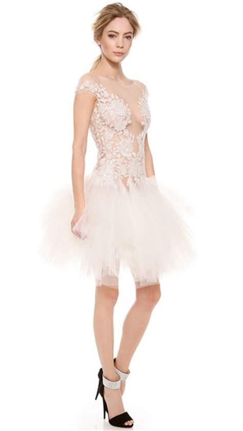 sexy ball gown mini short lace wedding dresses  cheap