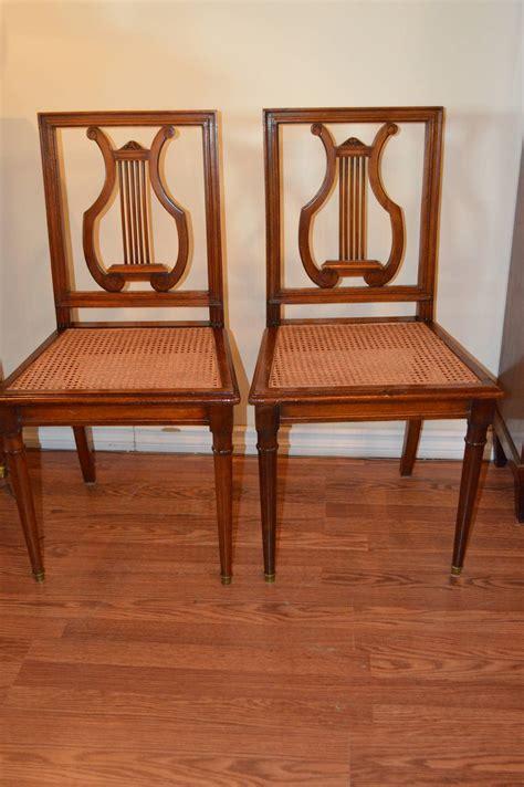 Mahogany Harp Back Chairs set of six mahogany harp back dining chairs for sale at