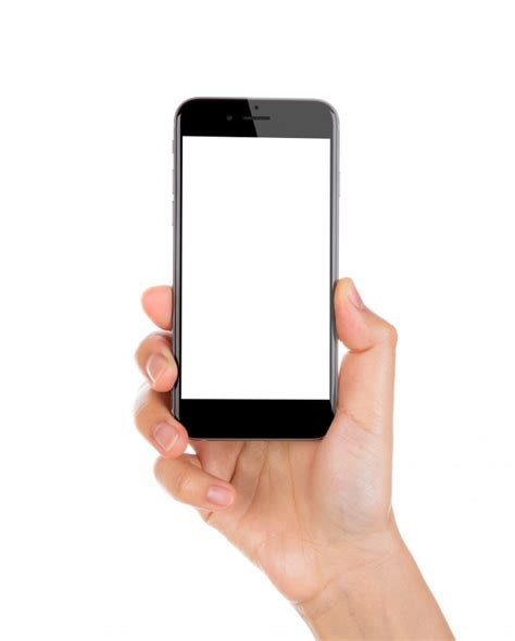 what is a smartphone holding a smartphone with blank screen photo free