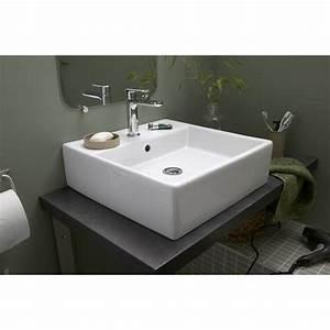 Leroy Merlin Vasque À Poser : vasque poser edge en c ramique 46 x 46 cm top bathroom ~ Melissatoandfro.com Idées de Décoration