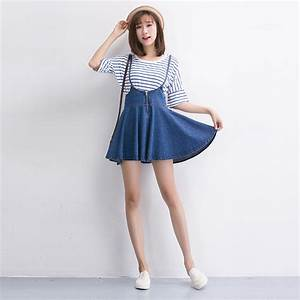 Korean Fashion 2017 Female Tall Waist Jeans Dress Women ...