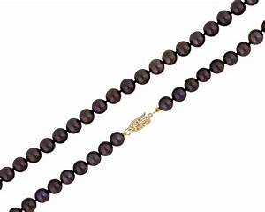 Beautiful Chocolate Freshwater Pearl Necklace & 14K Gold clasp