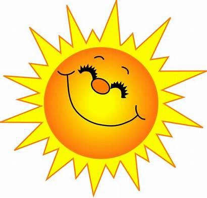Sun Clip Nature Clipart Sunshine Row Illustrations