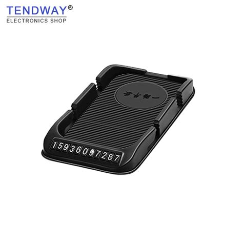 box auto mobile tendway temporary parking number car phone holder dust