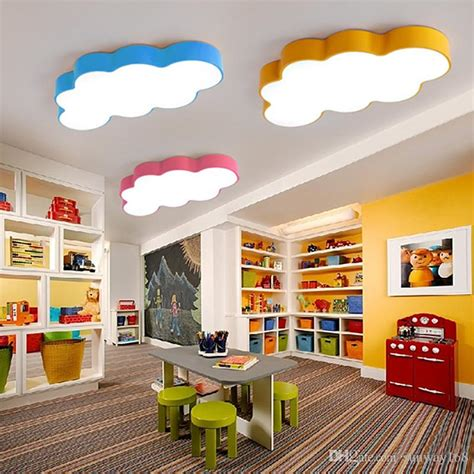 Yellow Bedroom Walls Meaning by 2019 Led Cloud Room Lighting Children Ceiling L