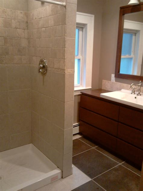 Stand Up Shower Ideas For Small Bathrooms by A Stand Up Shower Diy