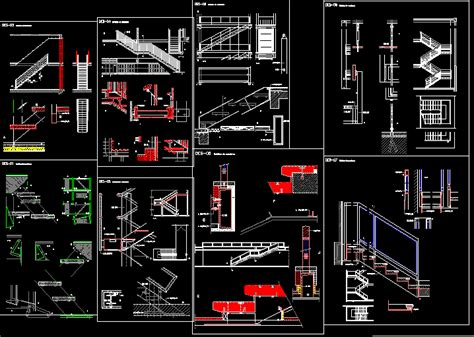stair construction details dwg detail for autocad designs cad