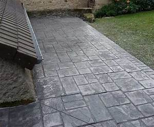 beton imprime revetement sols exterieurs prix With ciment decoratif pour exterieur