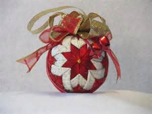 items similar to quilted no sew fabric christmas ornament ball red and white with red and gold