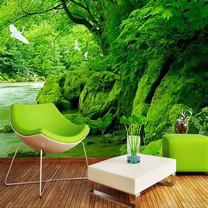 Custom 3D Photo Wallpaper Green Forest Natural Scenery ...